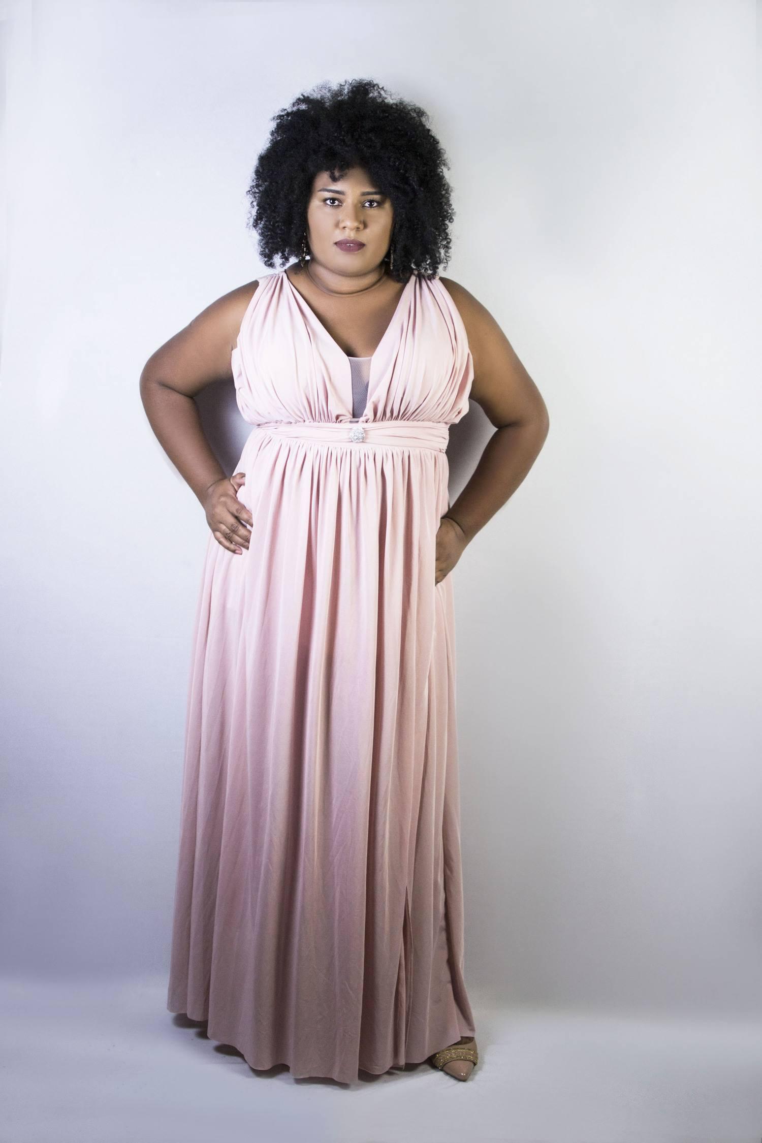 Vestido Feminino Longo De Festa Plus Size Ariadine