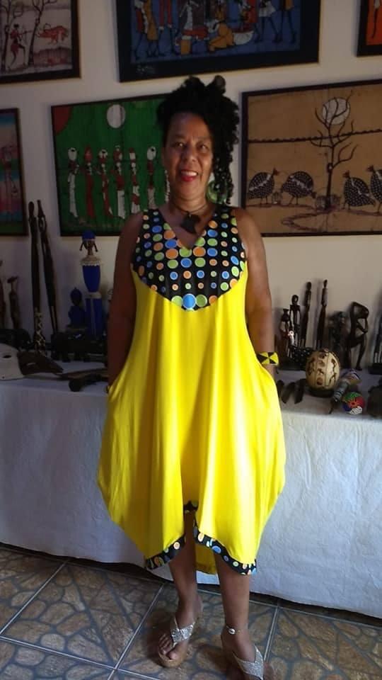 Vestido Toareg Tecido Africano Varias Estampas -