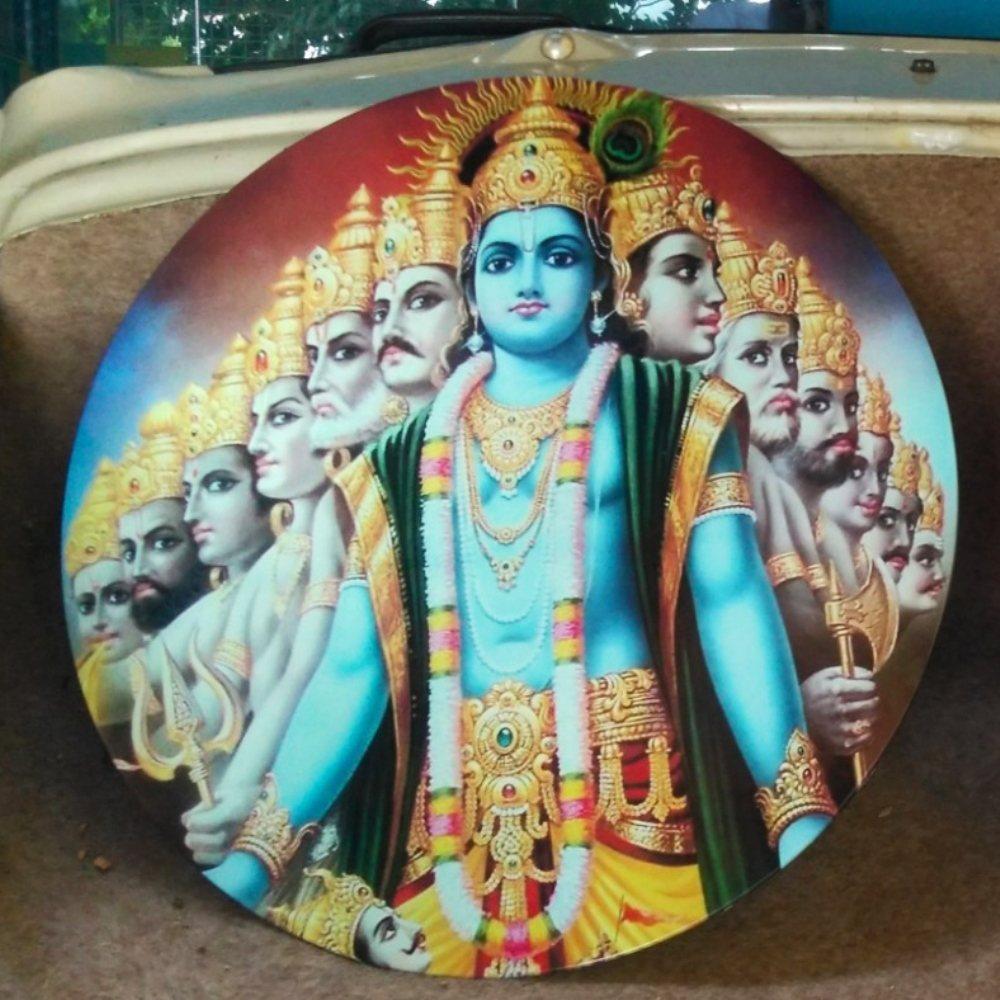 10 Avatares of Lord Vishnu - Placa Indiana