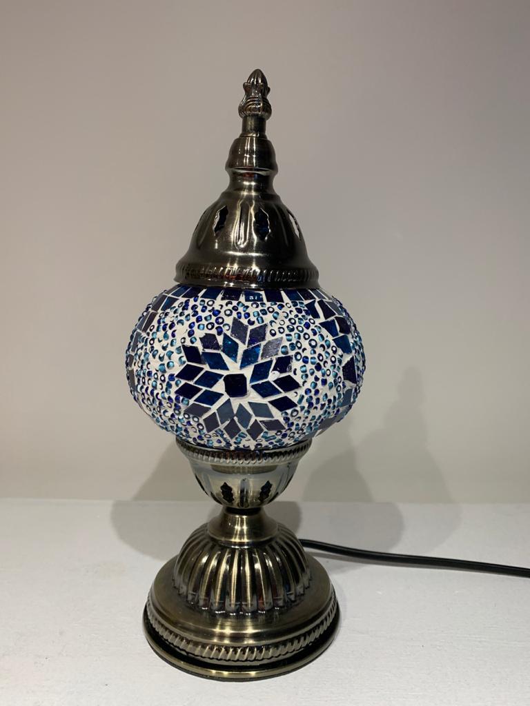 Abajur Turco Mosaico- Azul