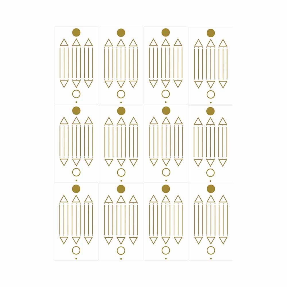 Adesivo Radiônico Desenho de Luxor - Com 12 adesivos - 5 cm