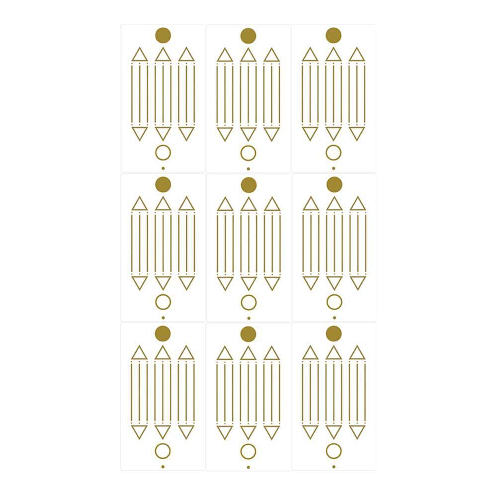 Adesivo Radiônico Desenho de Luxor - Com 9 adesivos - 7,5 cm