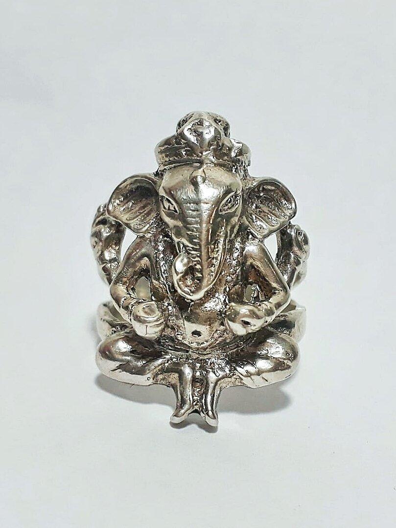 Anel Ganesha (em Prata 950)