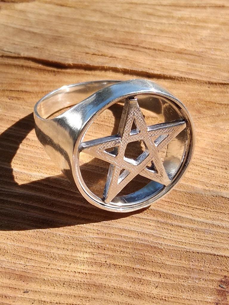 Anel Pentagrama em (Prata 950)