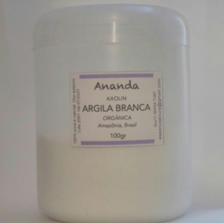 Argila Branca, pura, Amazônia, orgânica