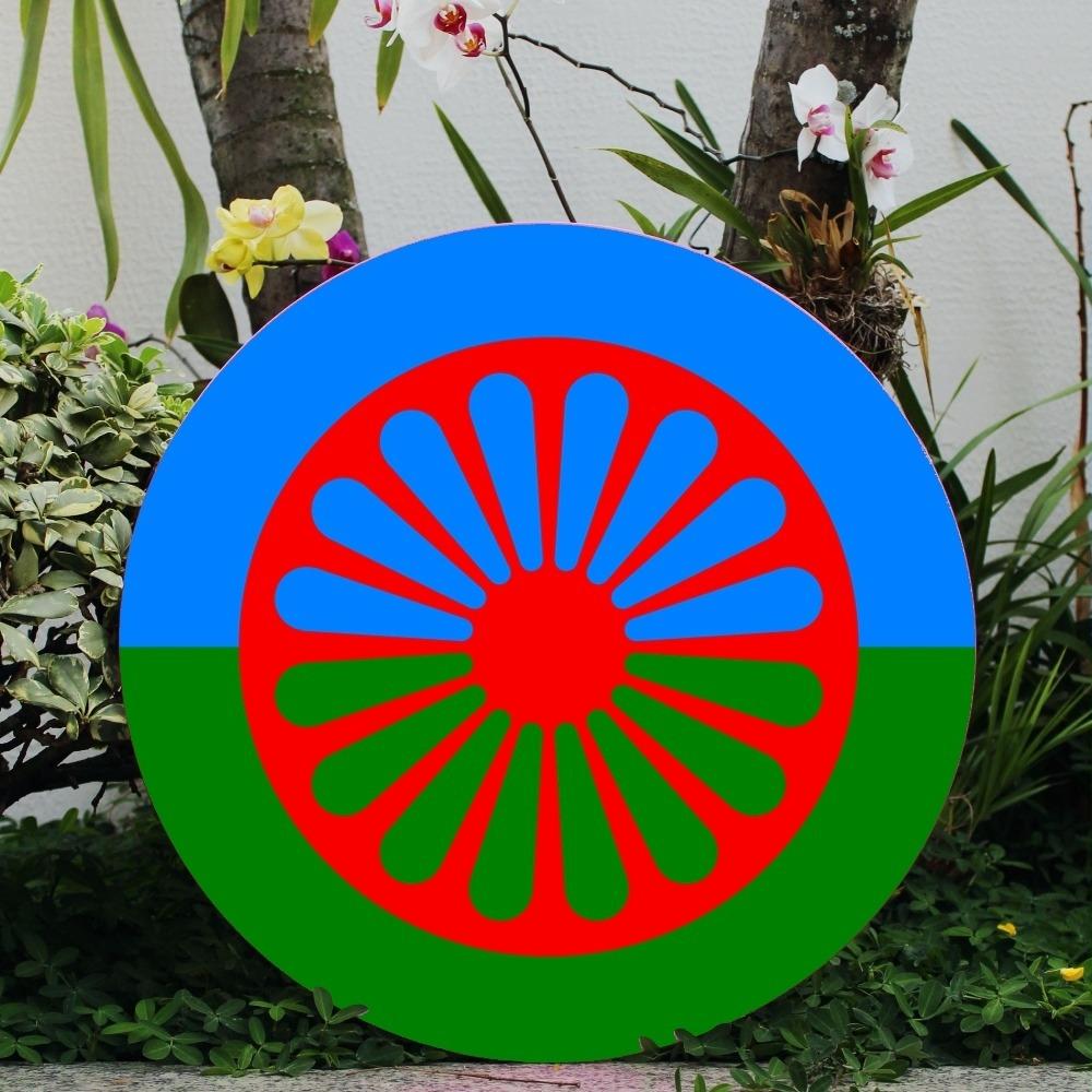 Bandeira Cigana - Placa 50cm diâmetro