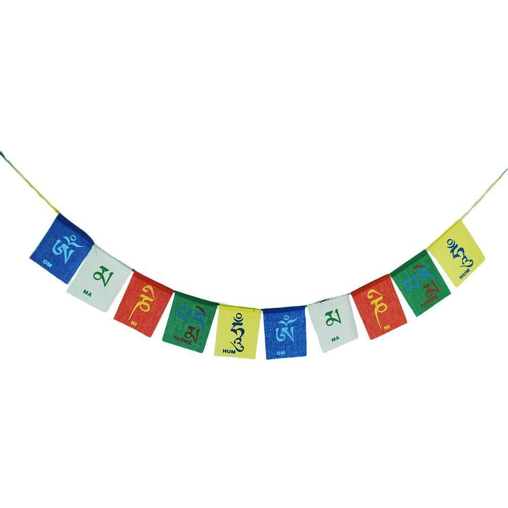 Bandeirinhas Tibetanas Om Mani Padme Hum (6cm)