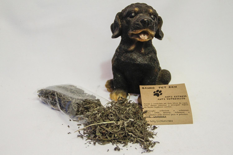 banho de ervas calmantes para cães  e gatos 30g