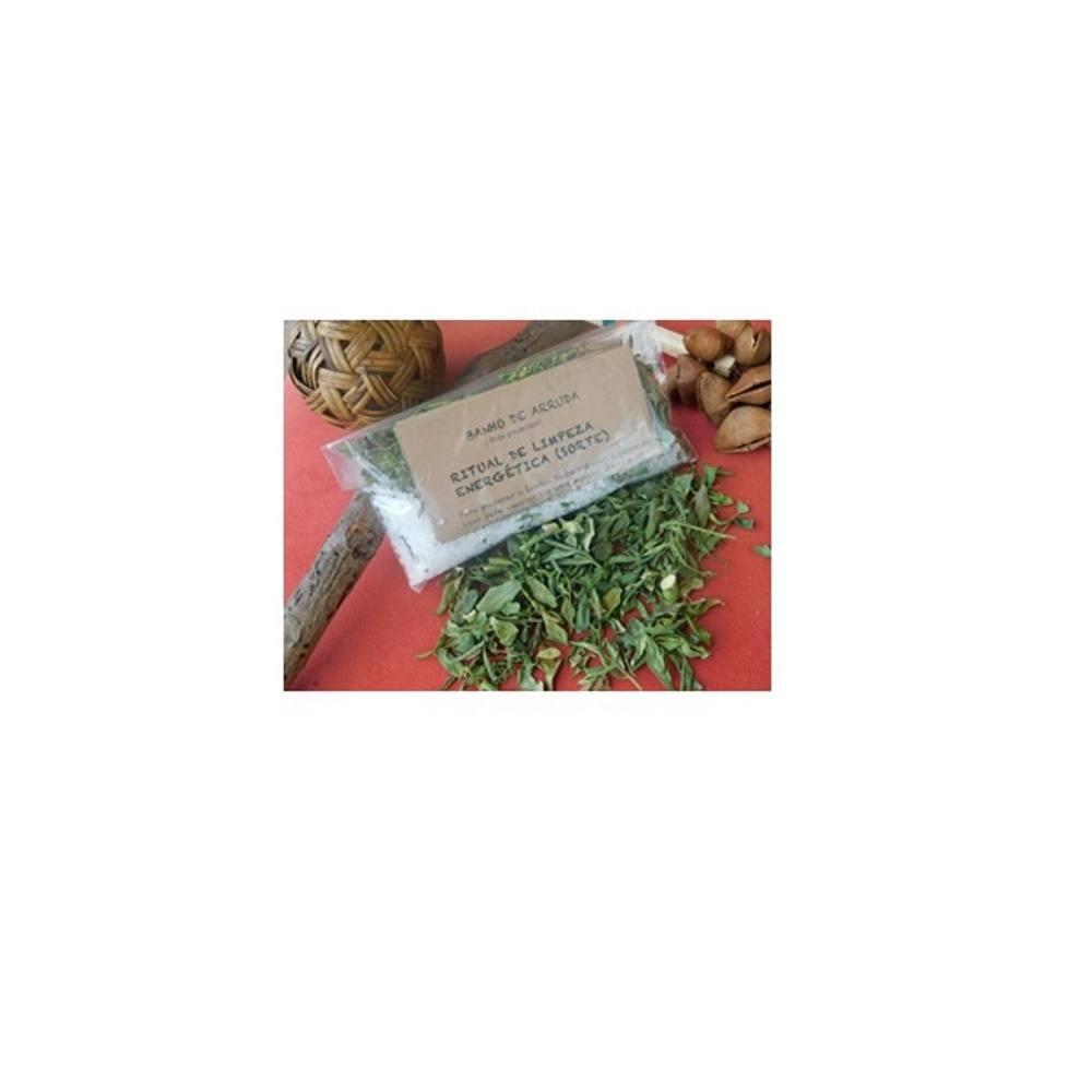 Banho de limpeza e proteção Manjericão (100% ervas) 100g + brinde