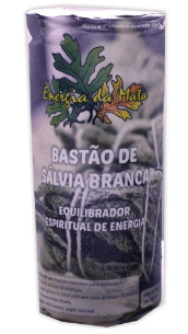 BASTÃO SALVIA BRANCA  AMERICANA PARA LIMPEZA, EQUILÍBRIO E PURIFICAÇÃO DA ENERGIA (25g) + BRINDE