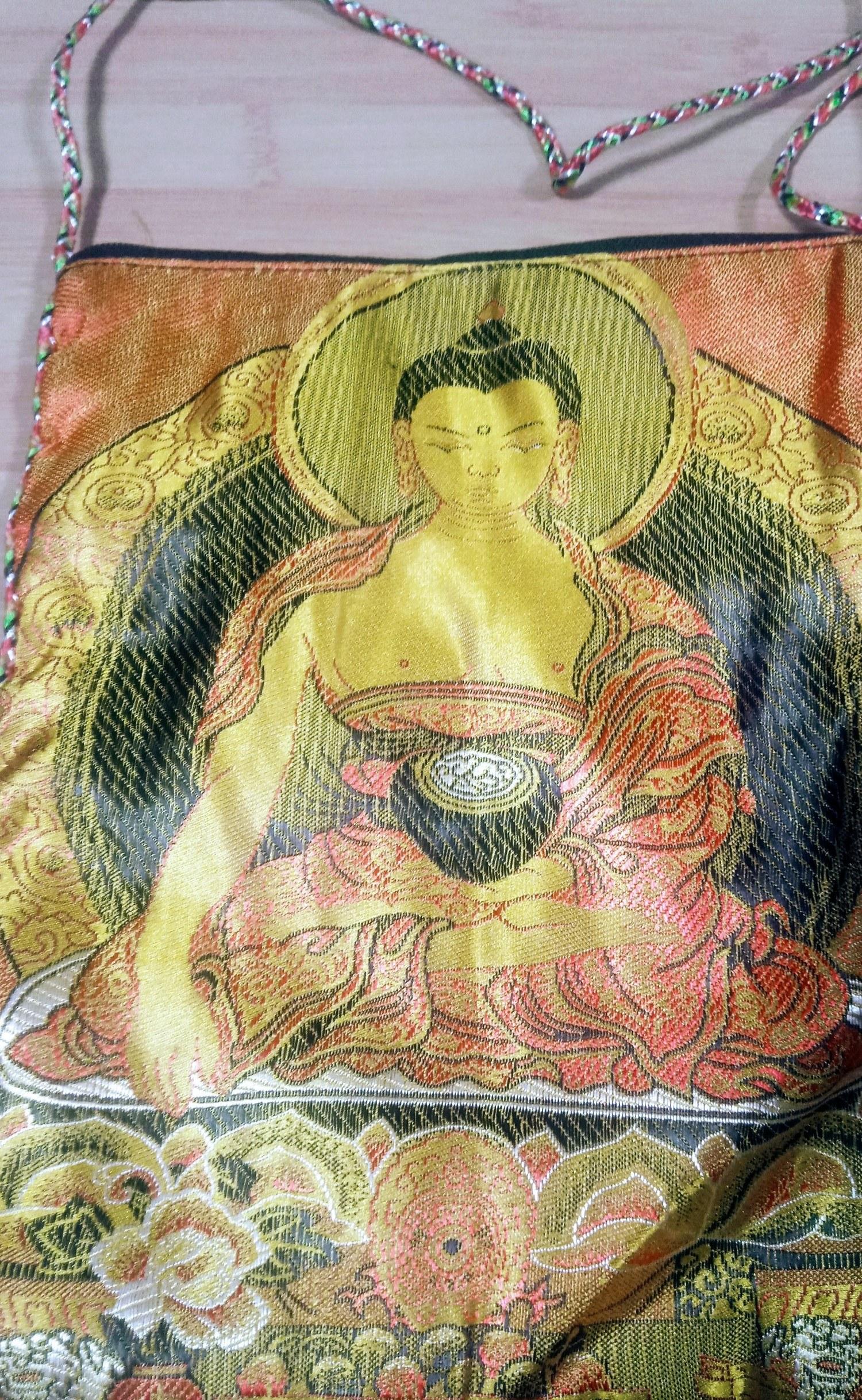 Bolsa indiana em seda mista Buda Sidarta Gautama