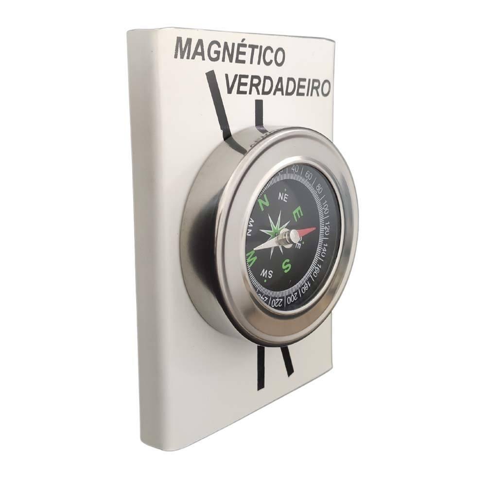 Bússola Com Indicação Do Norte Verdadeiro E Magnético 11cm