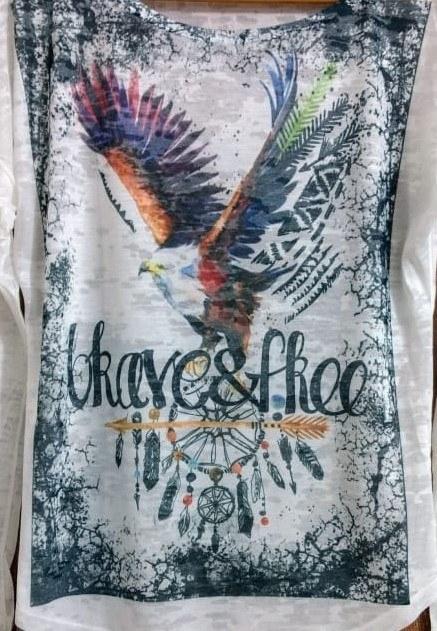 camiseta águia com filtro dos sonhos