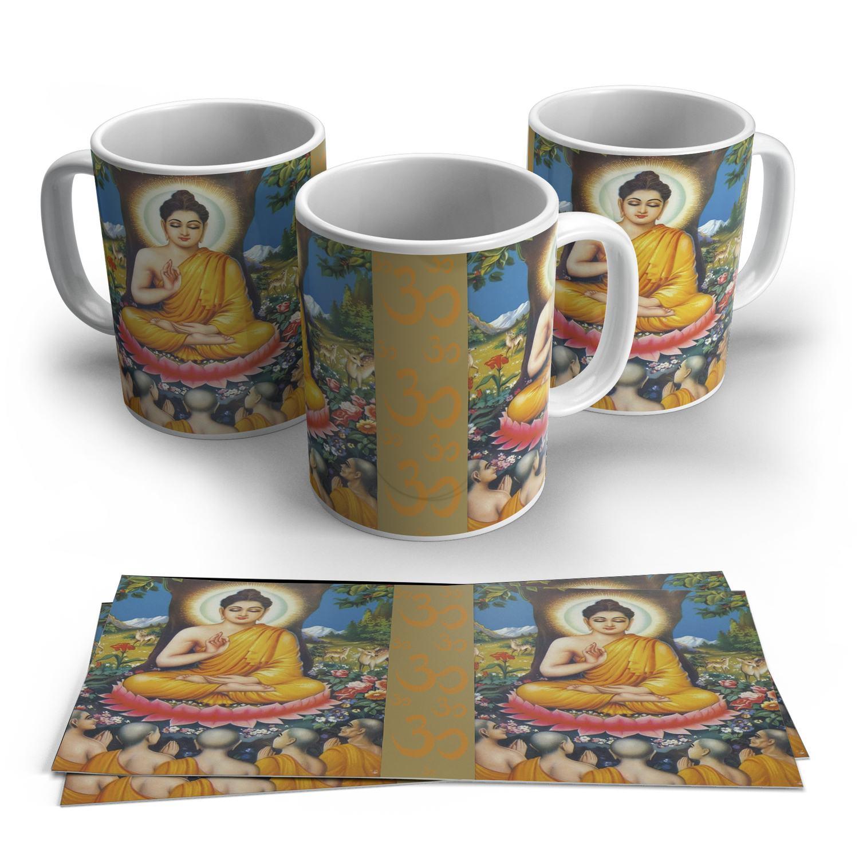 Caneca Budha em Cerâmica 325ml