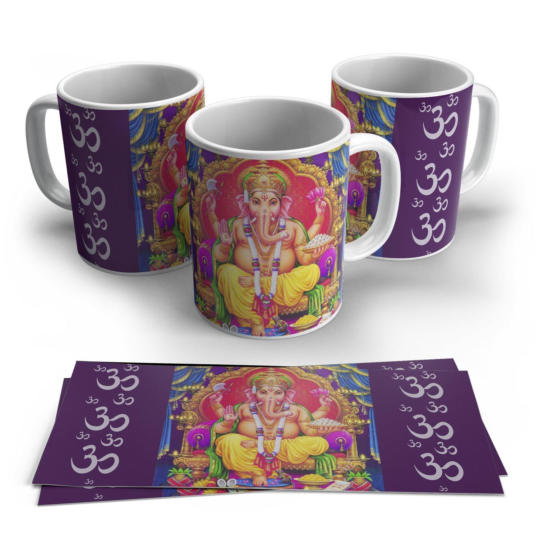 Caneca Ganesha em Cerâmica 325ml