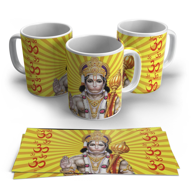 Caneca Hanuman em Cerâmica 325ml