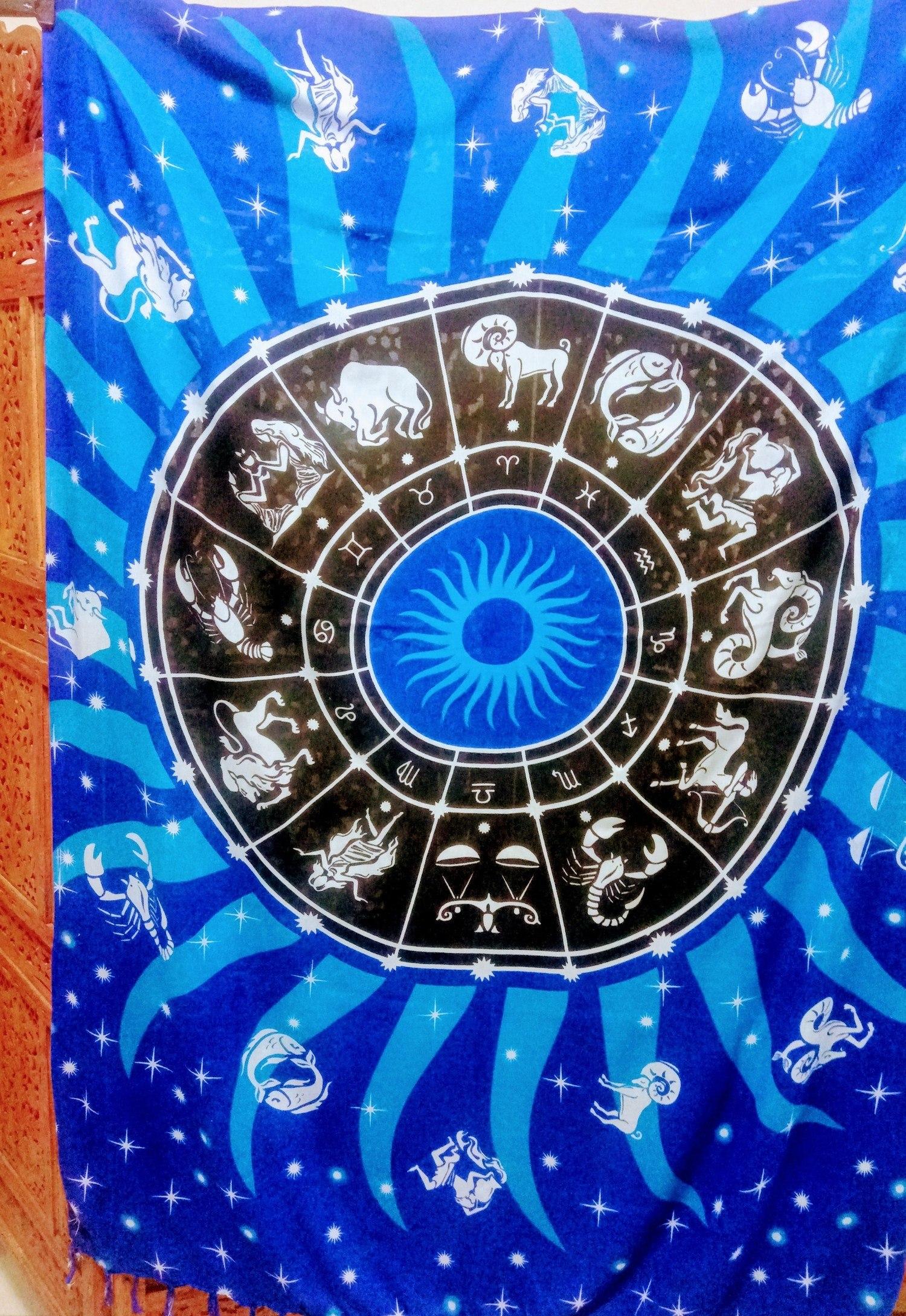 Canga estampa Zodíaco importada da Indonésia