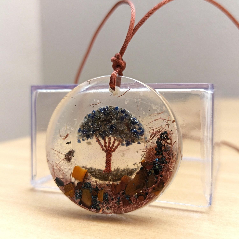 Colar de Orgonite - Árvore da Vida Escuro