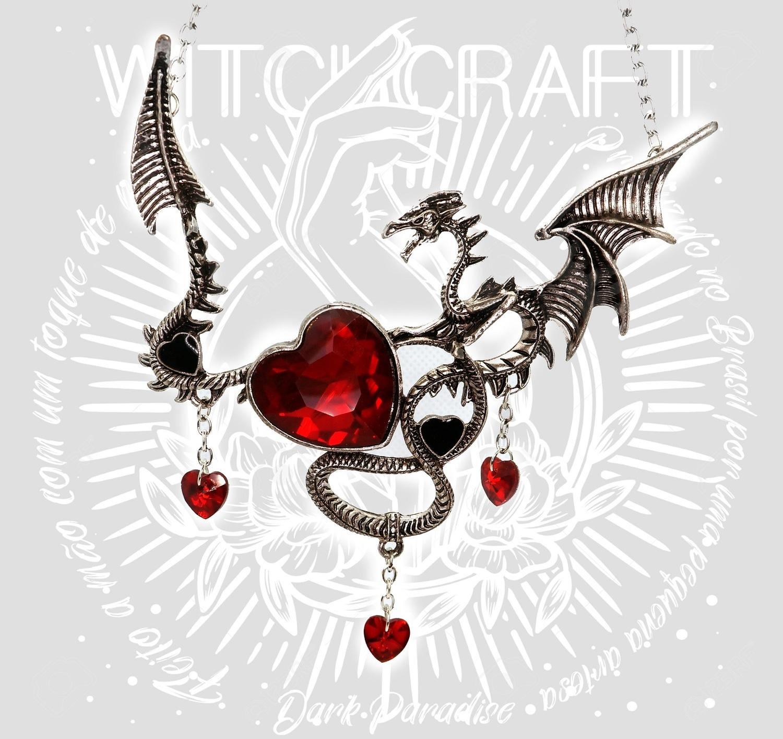 Colar Dragon's heart