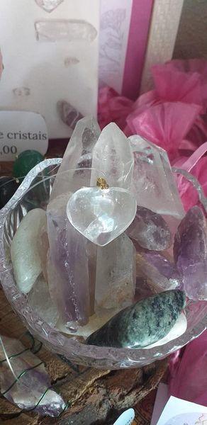 Coração em cristal de quartzo