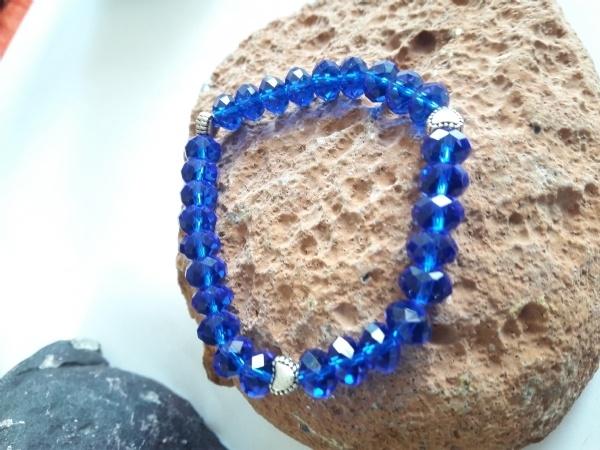 CRISTAIS azuis royal, Pulseira