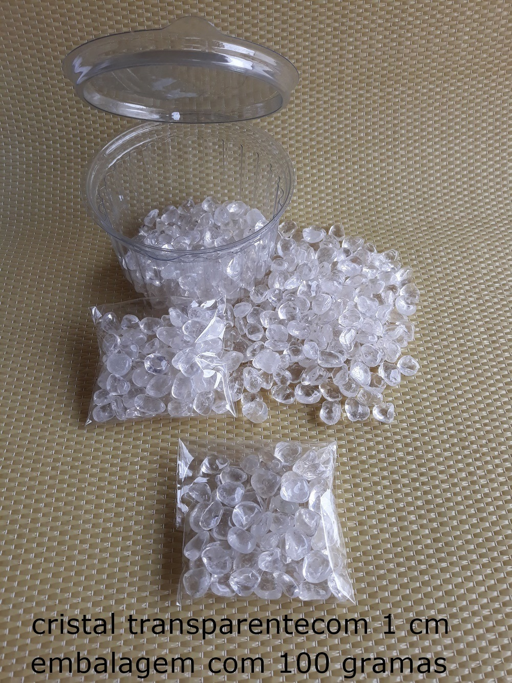 Cristal Transparente/ Grades de Cristais/  100 gramas