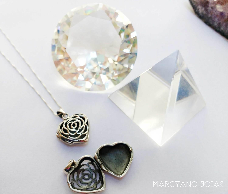 Difusor em Prata Coração Florido Pequeno Marcyano Joias