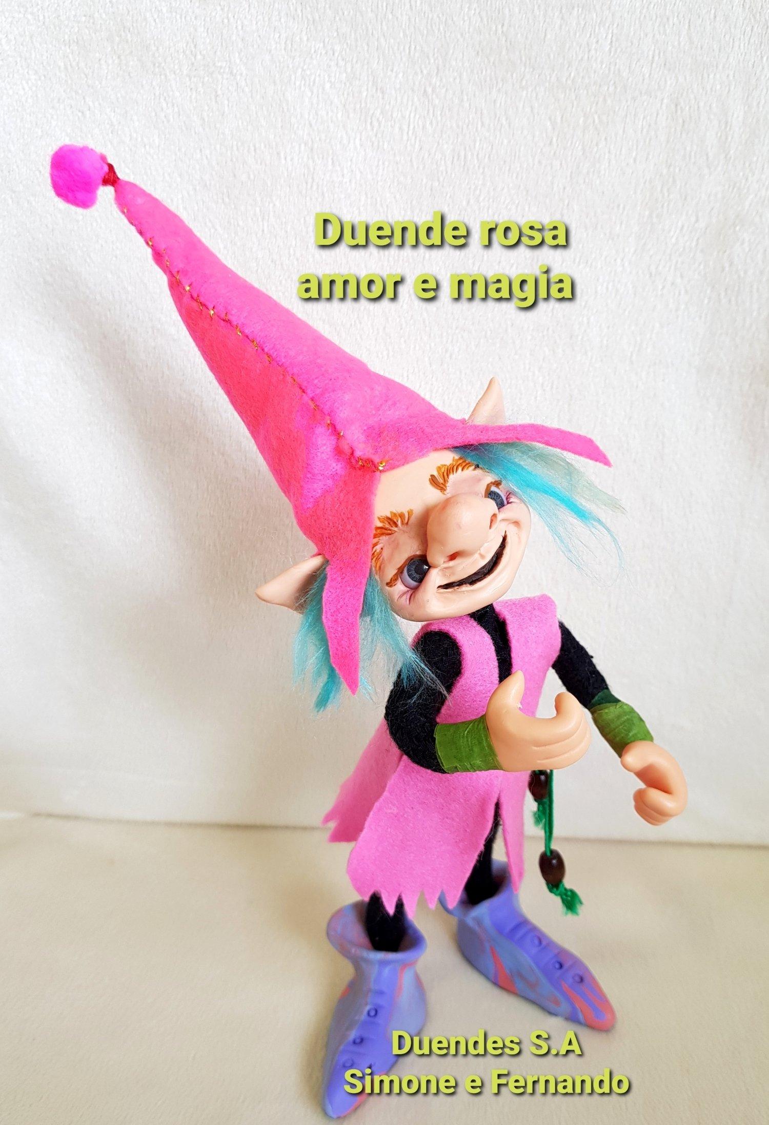 DUENDE MENINO  ARTICULADO/ ROSA, AMOR E MAGIA