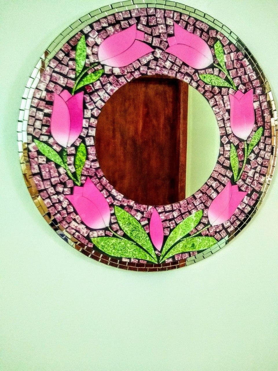 Espelho Tulipa Mosaico