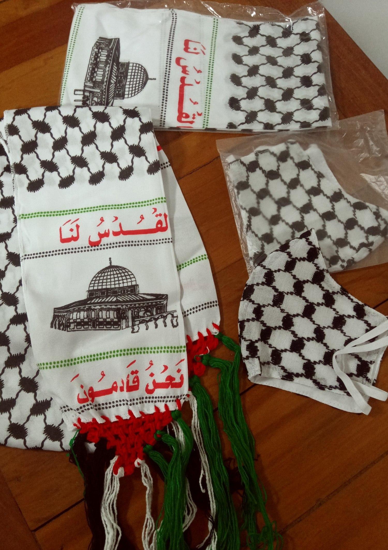 Faixa/cachecol/echarpe +máscara importadas da Palestina
