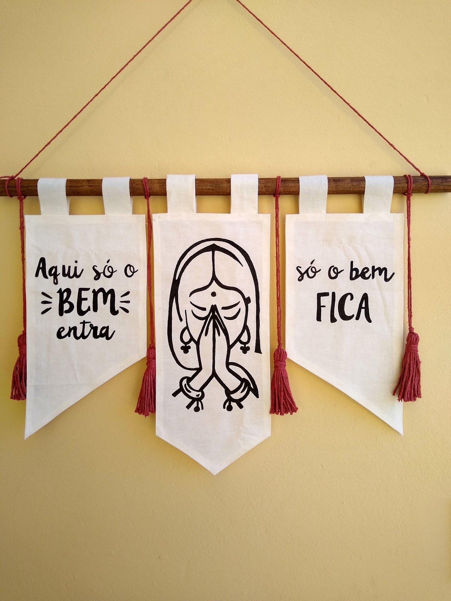 Flâmula Decorativa Mantra do Bem