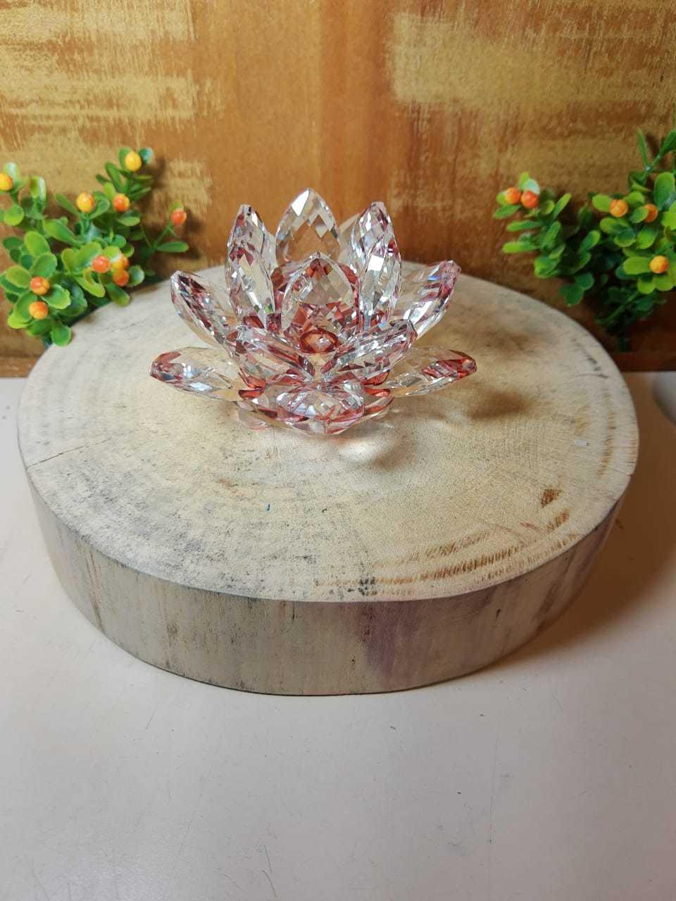 Flor de lótus cristal multifacetado - Vermelho