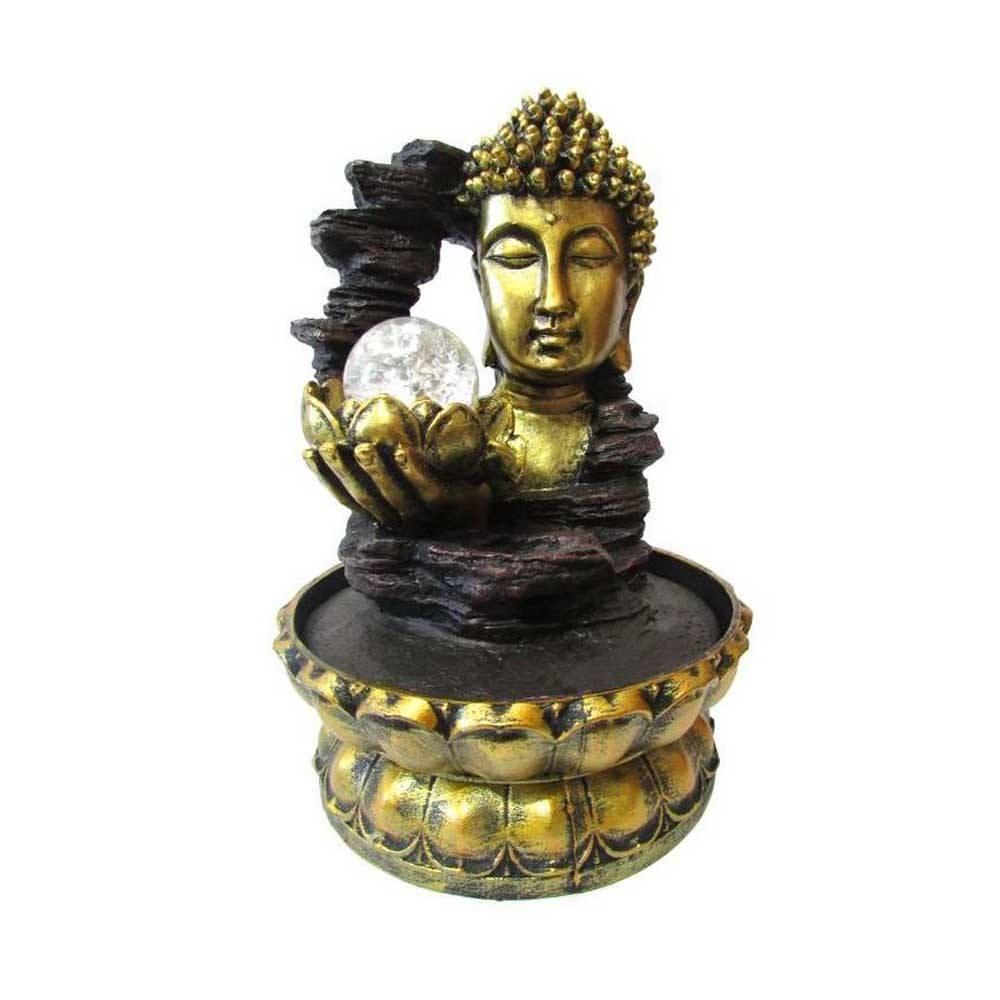 Fonte de Decoração Feng Shui Cabeça de Buda Com Led Bivolt