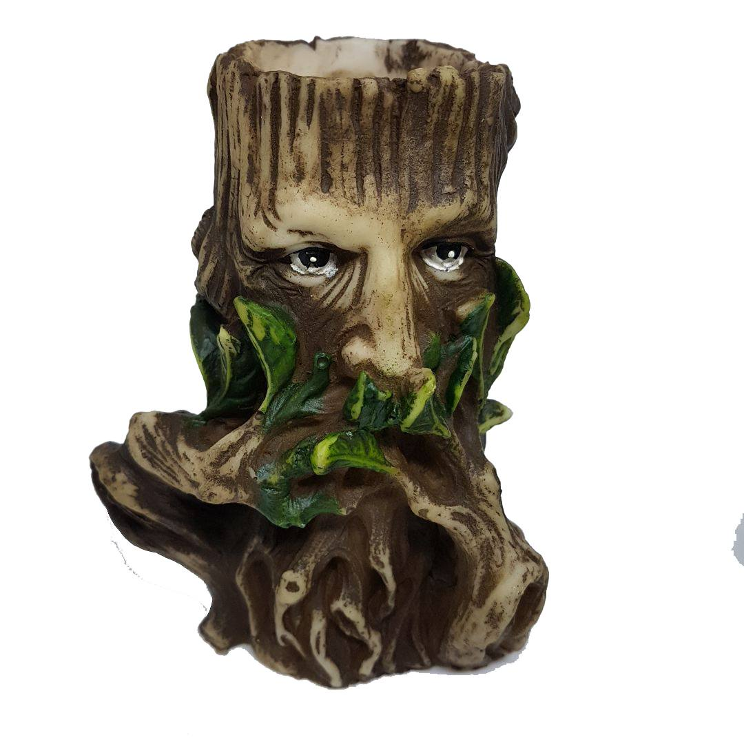 GREEN MAN PORTA VELAS (MUDO)