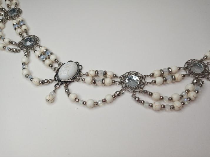 Headband Medieval - Howlita Branco