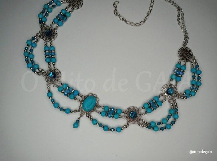 Headband Medieval - Turquesa