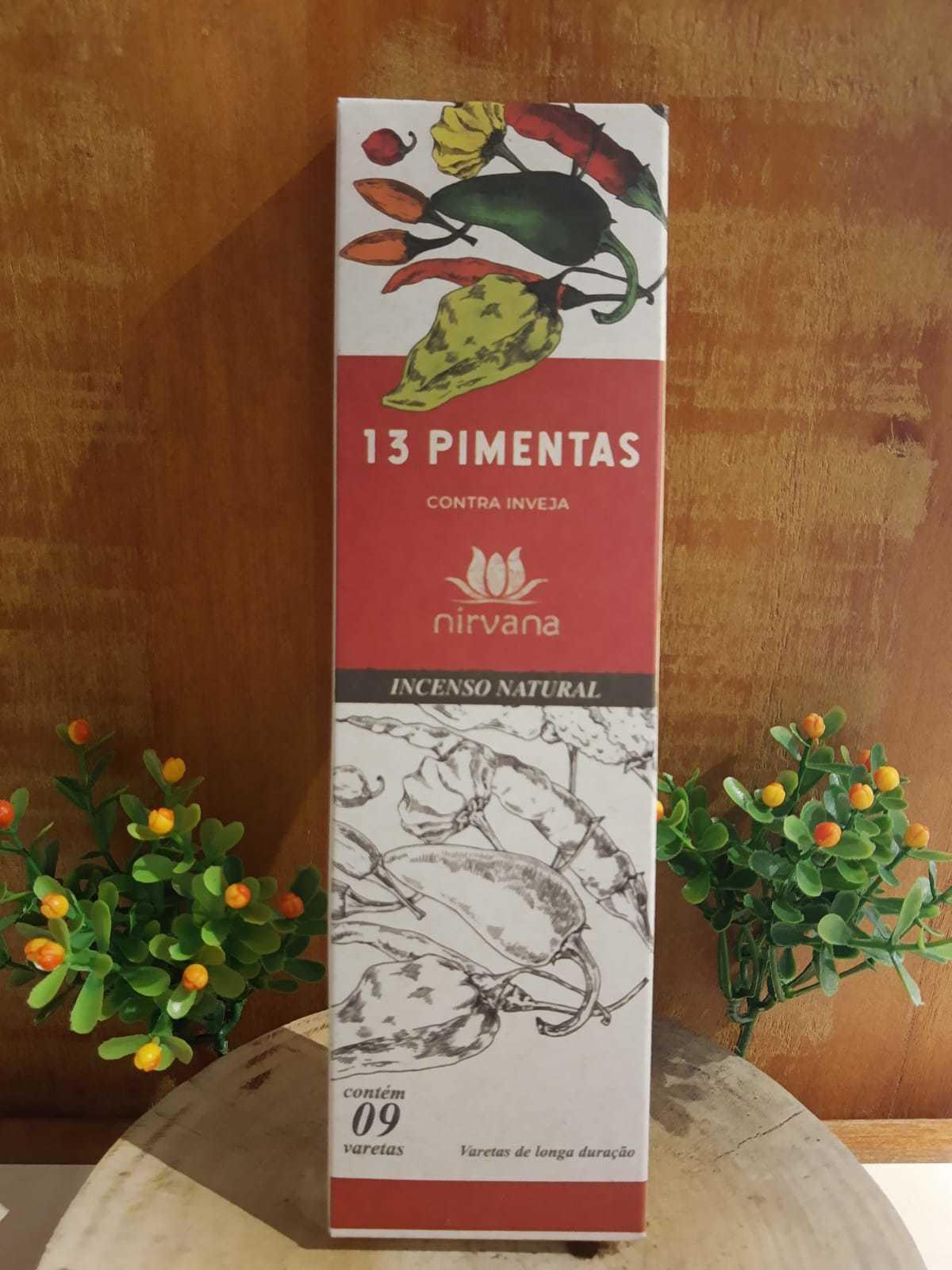 Incenso Natural 13 pimentas - Nirvana