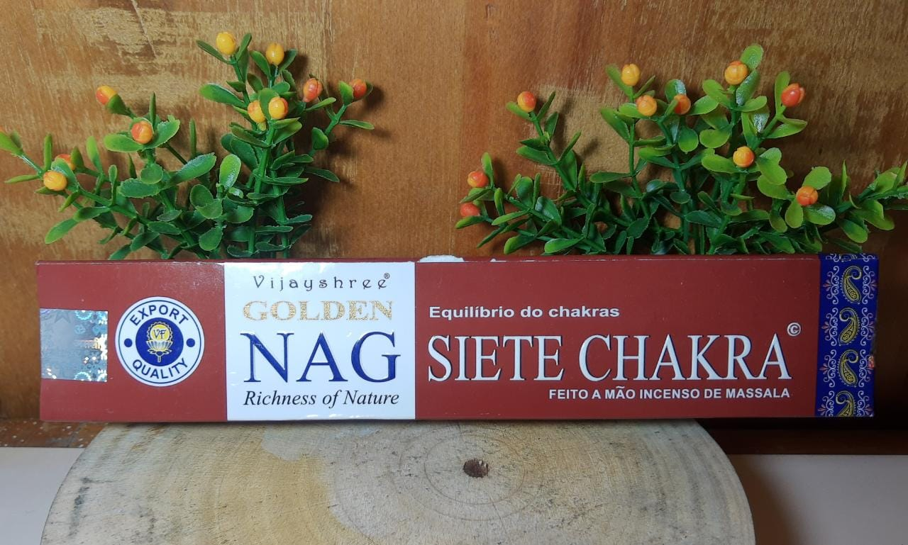 Incenso Siete Chakra - Golden Indiano,  100% massala