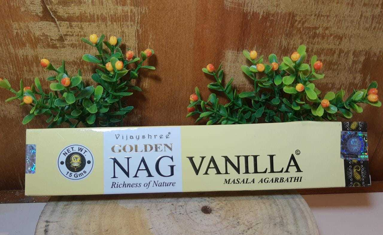 Incenso Vanilla - Golden Indiano,  100% massala