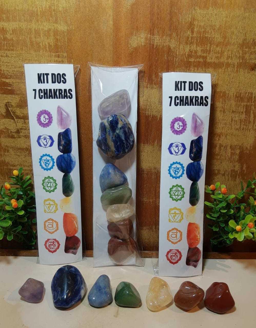 Kit 07 Chakras - Pedras de 3 a 4cm