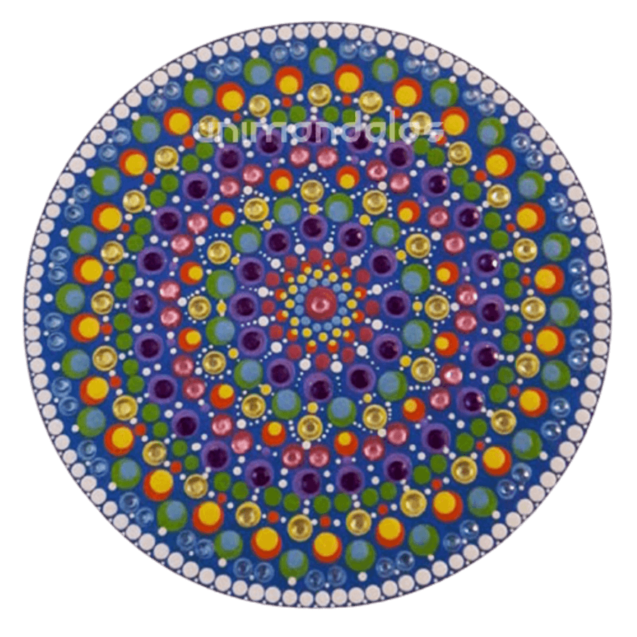 Mandala colorida - 25cm