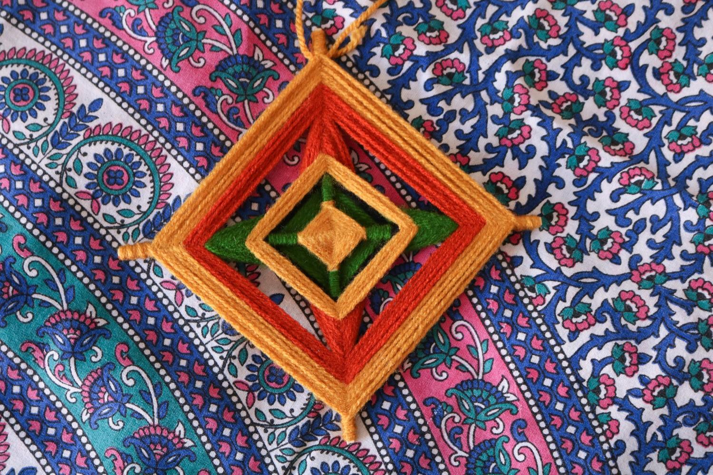 Mandala de lã 20cm
