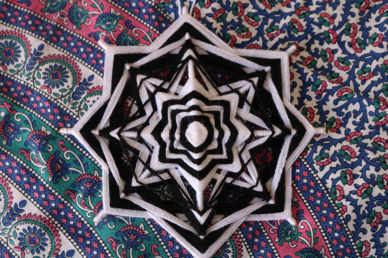 Mandala de lã 28 cm