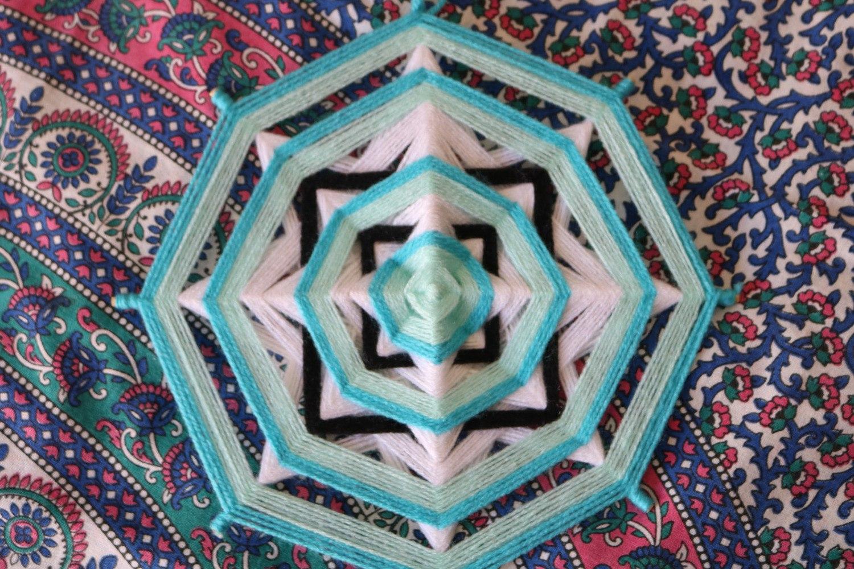 Mandala de lã 28cm