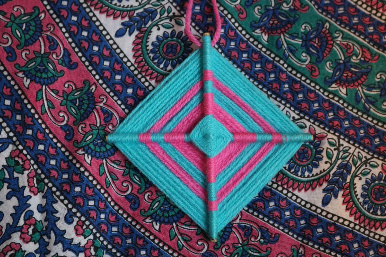 Mandala de lã 14cm