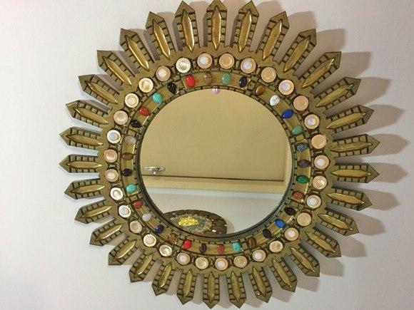 Mandala  Espelho Indiana