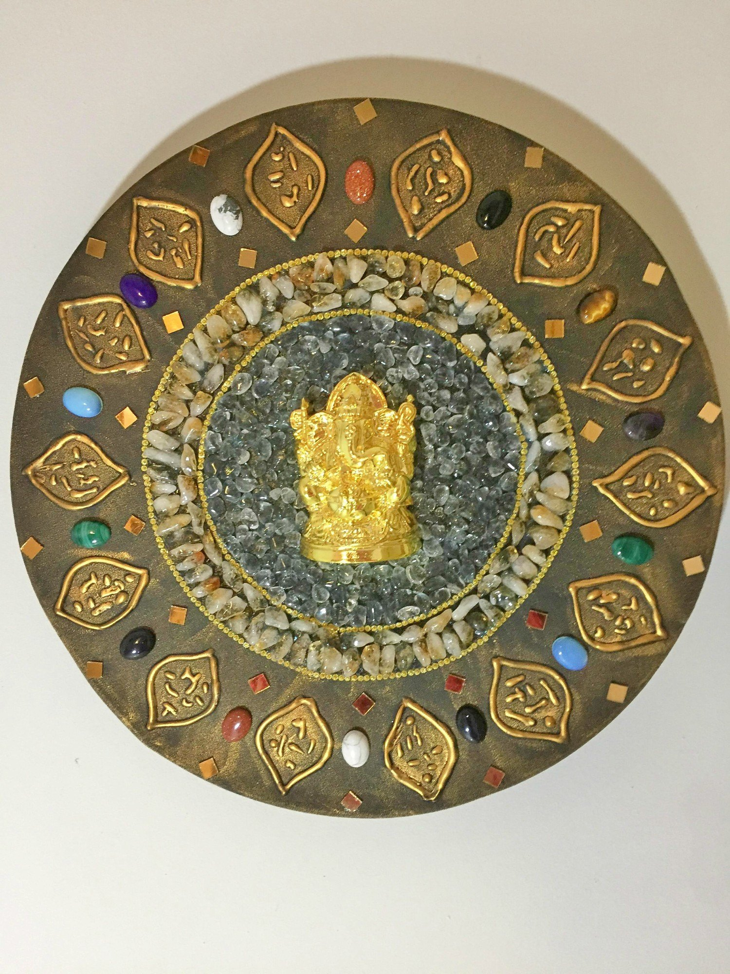 Mandala Ganesha Pedras Lapidadas