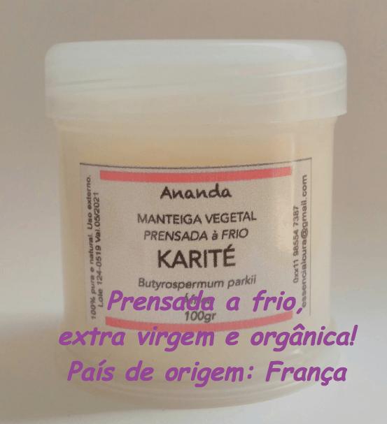 Manteiga de Karite orgânica, prensada a frio e extra virgem 100gr