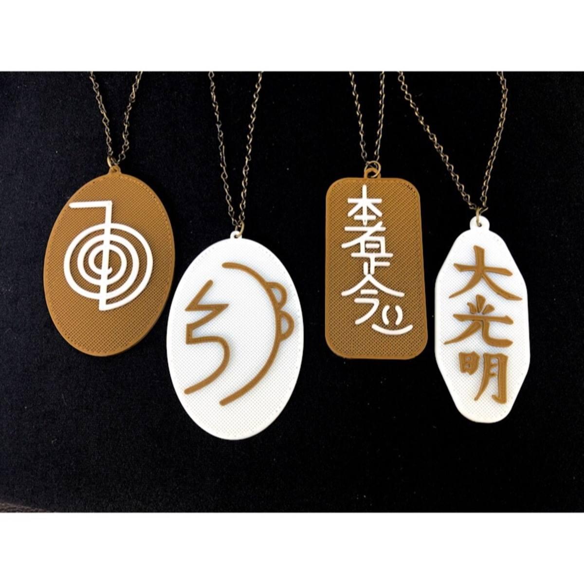 Medalhões Símbolos do Reiki - Os 4 principais símbolos