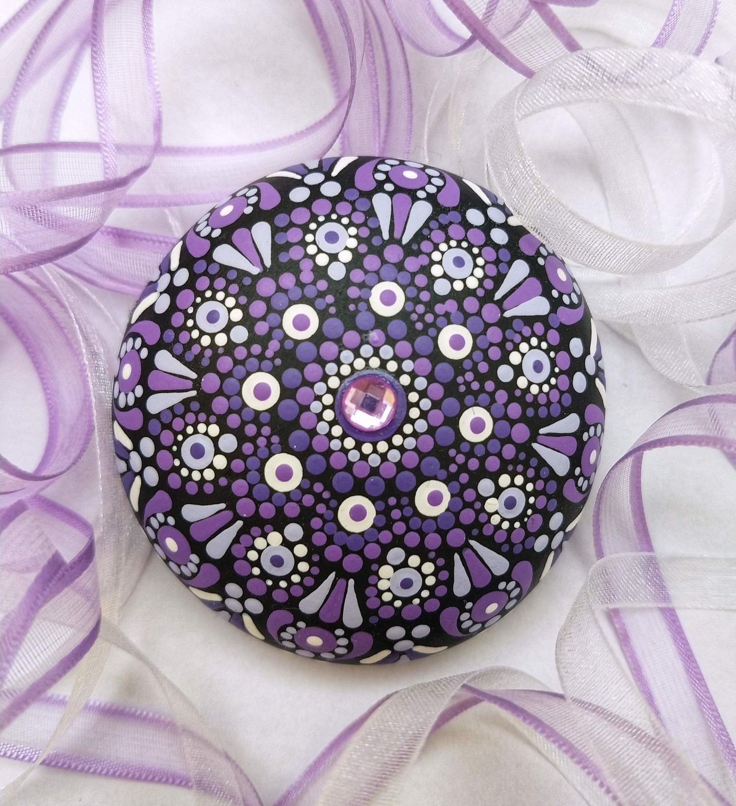 Mini Mandala em Pedra